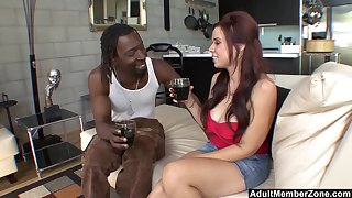 Curvy long haired MILF Rachel Solari get pounded by a heavy black cock