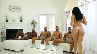 One black dudes lady-love all holes of big bottomed white plow Mandy Muse