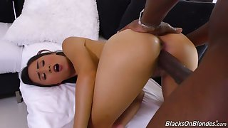 Ardent quite leggy cowgirl Elle Voneva rides such a long BBC on top