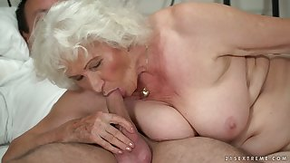 Mature chubby blonde complain Norma B deserves some hard banging