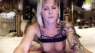 Amateur tow-headed immature squirted doggystyle