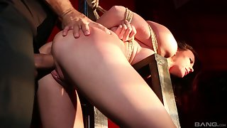 Tied up and tortured MILF Chanel Preston gut slapping and ID