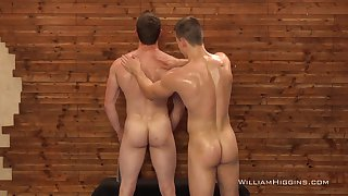 Anal until the full orgasms for the hot gay lovers
