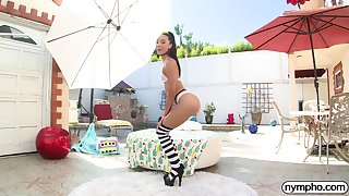 NYMPHO Anal creampie for cease operations pamper Alexis Tae