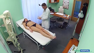 Good looking redhead girl gets a full body testing with a hard dick