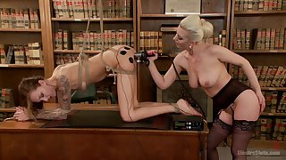Kendra Cole and Cherry Torn experiment with vassalage and electro-stimulation