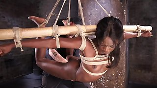 Gagged coloured acts duteous thither brutal XXX BDSM play