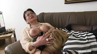 Two full-grown German sluts pleasure one younger scantling with a BJ