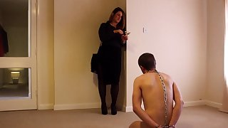 Cfnm fetish non-professional femdom hoes jerk off non-starter during party
