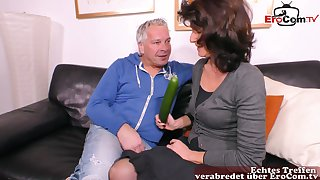 German hideous fat mature housewife cucumber fuck