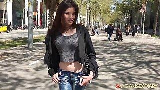 Naughty Asian tolerant Miyuki hooks up with barely known baffle