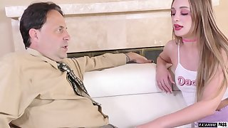 Young promiscuous wholesale gives her stepdad's cock two on two devotion