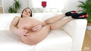 Balls deep ass drilling for shaved pussy slut Lilit Sweet. HD