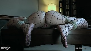 Babe on every side mouth-watering ass Katie Kush is pledged and fucked on every side a metal hook