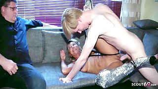 Cuckold Watches German Mature Wife Enjoyment from Brute Cock Teen Boy