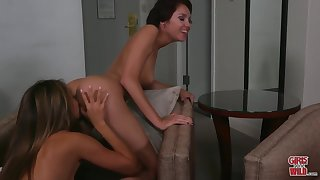 Exotic lesbian pleasure with Cadey and Ayumi