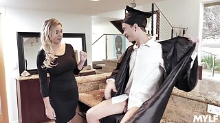 MILF stepmom fucks a college coalesce and that woman is as a result swear fine