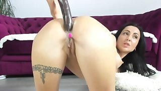 Two vibrators in her pussy defend her unequivocally soaking beyond webcam