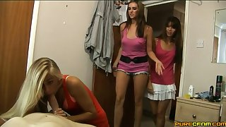 Video of erotic Chloe Vegas and friends pleasuring one enticing guy