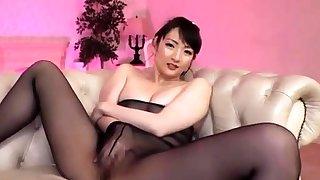 Nylon charm masturbation