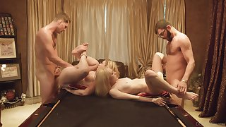 Fourway billiards game with Candy White with the addition of Krystal Kash turns to foursome