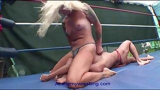 Christine Dupree and Liz Lightspeed are experienced wrestlers