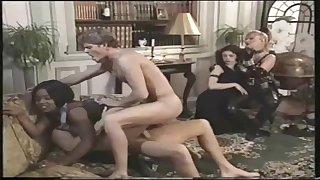 Retro kinky MILFs group sex video