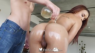Having got lubed busty cowgirl is obtainable for doggy and cock riding workout